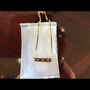 Jewelry - 14 K gold Ankle bracelet w/3 Diamonds